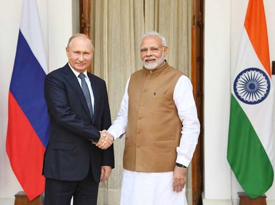 Modi with Putin
